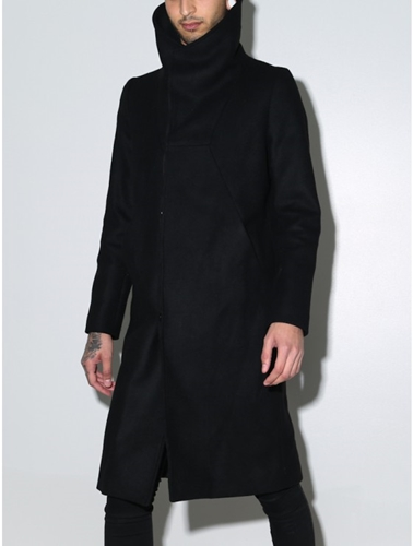 Oak Funnel Neck Coat Black Oak