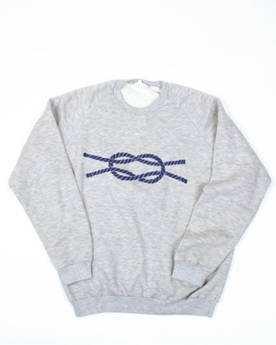 Mixed Grey Knot Sweater VARIA CURIOSA