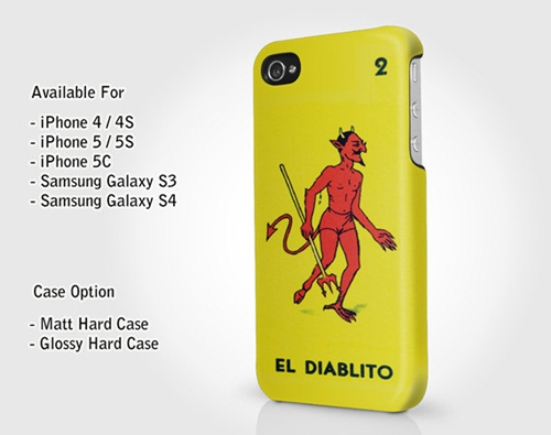 El Diablito Mexican Loteria The Little Devil Iphone By Paweeart