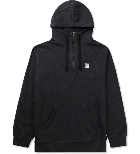 Rockwell By Parra Black Horse Face Hooded 1 4 Zipper Sweater Hypebeast Store. Shop Online For Men's Fashion Streetwear Sneakers Accessories