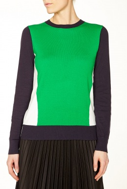Michael Michael Kors Colour Block Crew Neck Sweater By Michael Michael Kors