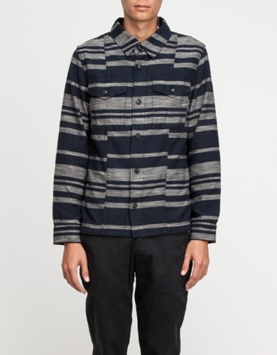 Dusk Stripe Shirt Jacket