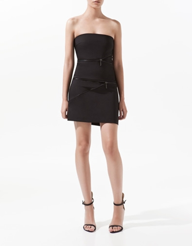 DRESS WITH ZIPS Dresses Woman ZARA United Kingdom