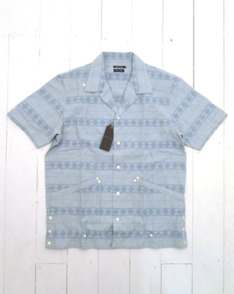 Blue Cuban Shirt by Sunny Sports available to buy at The Bureau Belfast