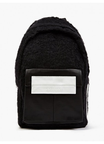 Eastpak X Nicomede Black Shearling And Leather Fleury Backpack Oki Ni