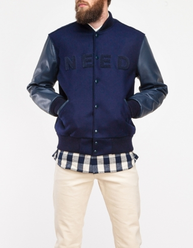 Navy Navy Need Varsity Jacket
