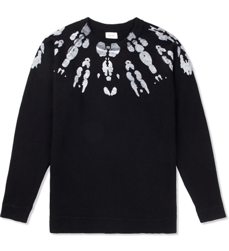 Wood Wood Black Blot Eagle Sweater Hypebeast Store