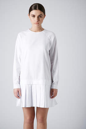 Pleat Hem Cotton Dress By Boutique New In This Week New In Topshop