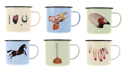 Enamel Metal Mug X Toiletpaper Buy Unique Art And Designer Products Shipped Worldwide Third Drawer Down
