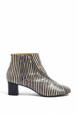 Acne Marlie Snake Short Zip Up Boots By Acne