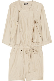 Markus Lupfer Washed silk playsuit 84 Off Now at THE OUTNET