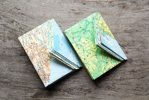 Set 20 Map Envelope Small Tiny Mini Envelope Business By Papirea