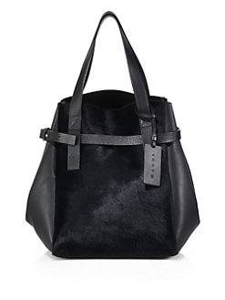 Marni Calf Hair Top Handle Shopper