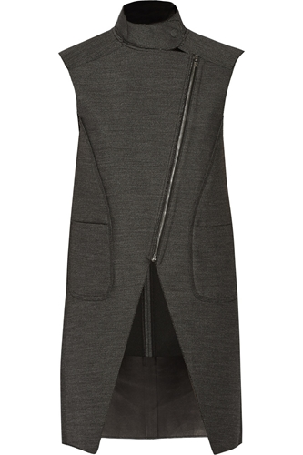 Jacquard And Leather Vest Alexander Wang 59 Off The Outnet