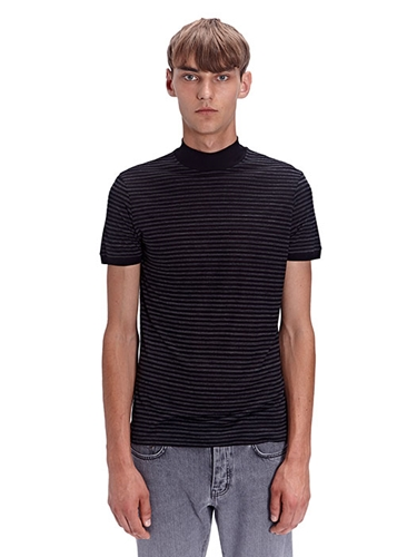 Saint Laurent Mens High Neck T Shirt Ln Cc