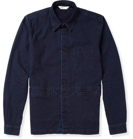 Folk Washed Denim Lightweight Jacket Mr Porter