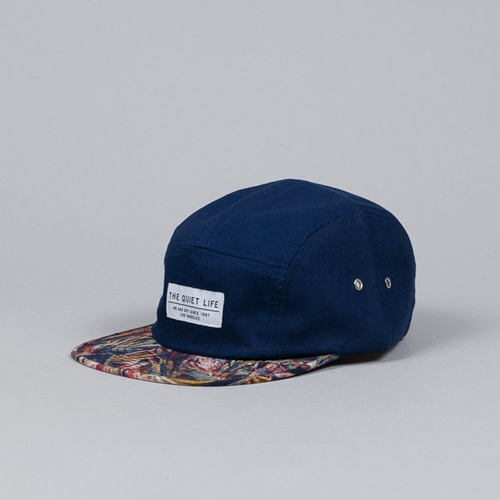 The Quiet Life Stroke 5 Panel Cap Navy At Flatspot