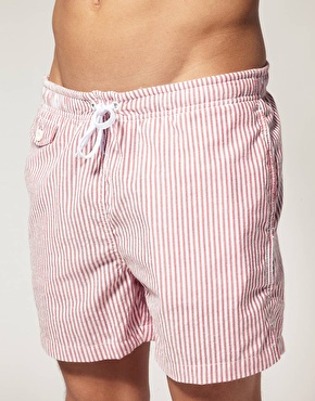 ASOS ASOS Stripe Swim Shorts at ASOS