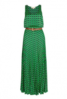 Mini Iconic Geometric Pleated Maxi Dress By Michael Michael Kors