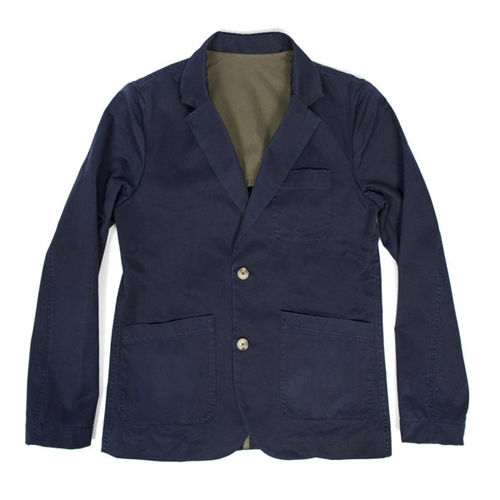 Sea Washed Navy Twill Telegraph Jacket Taylor Stitch