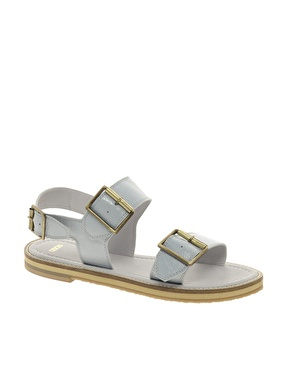 Asos Asos Federico Leather Flat Sandals At Asos