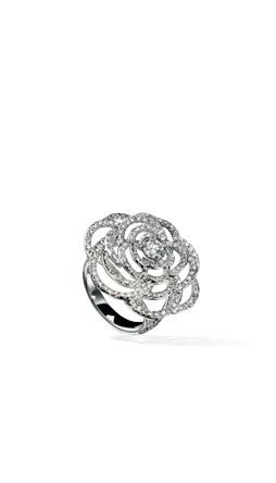 Camelia Ring in 18K white gold and diamonds Chanel Fine Jewellery
