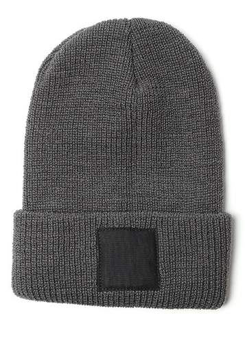 Black Square Cap In Grey Blackbird