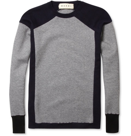 Marni Contrast Panel Sweater MR PORTER