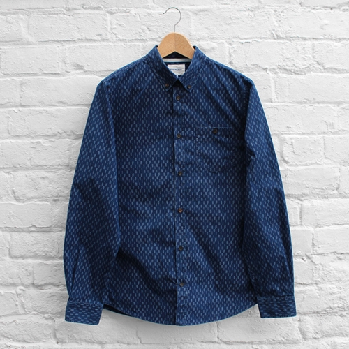 Norse Projects Anton Dot Pod Denim Shirt Dark Indigo Fusshop