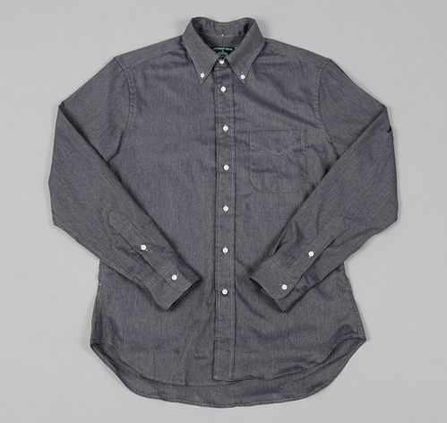 BUTTON DOWN COLLAR SHIRT JOURNAL STANDARD FINE HERRINGBONE HICKOREE S HARD GOODS