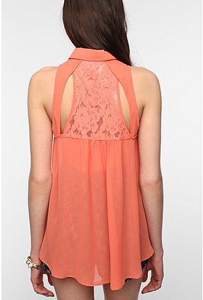 Urbanoutfitters.Com Bb Dakota Allegra Lace Back Blouse