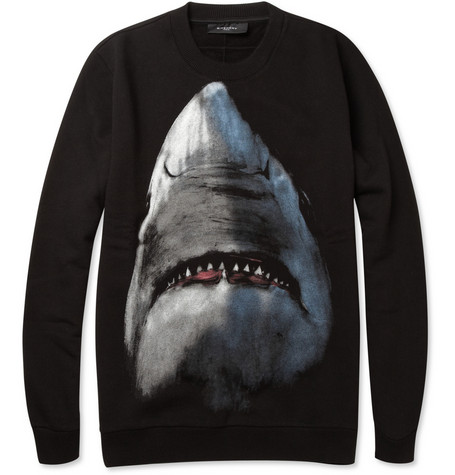 Givenchy Shark Print Cotton Sweatshirt MR PORTER