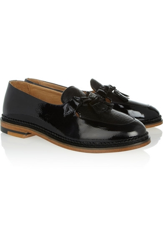 Purified Polly 2 Tasseled Patent Leather Loafers Net A Porter.Com