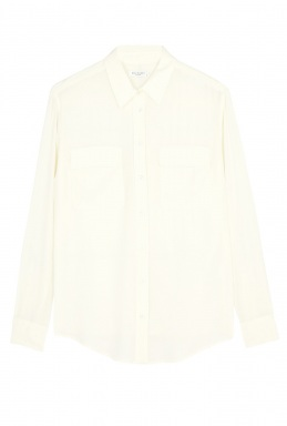 Equipment White Signature Silk Blouse By Equipment