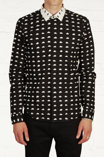 Buy Mens Kenzo Contrast Collar Cloud Print Shirt Start London