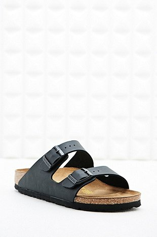 Birkenstock Arizona Birko Leather Sandals In Black Urban Outfitters