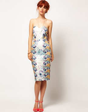 ASOS ASOS SALON Floral Bandeau Dress at ASOS