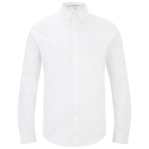 Carven Men's Slim Oxford Shirt White Mens Clothing Free Uk Delivery Over 50