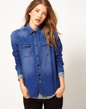 Maison Scotch Maison Scotch Denim Shirt at ASOS
