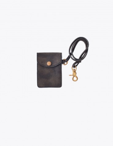 Visvim Leather Card Case Black Tres Bien