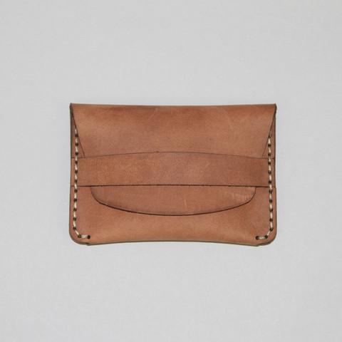 Slim Flap Wallet in Khaki Chamois by Makr Carry Goods OEN Shop