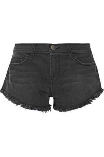 Current Elliott The Gam Cut Off Stretch Denim Shorts Net A Porter.Com