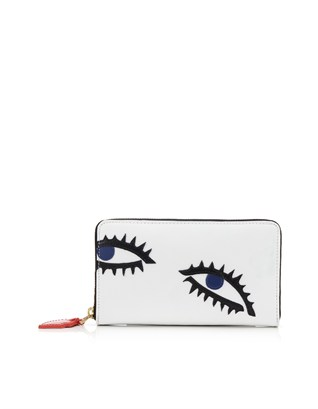 White Eye Leather Continent Wallet Lulu Guinness Avenue32
