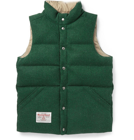 Beams Plus Reversible Quilted Harris Tweed Gilet Mr Porter