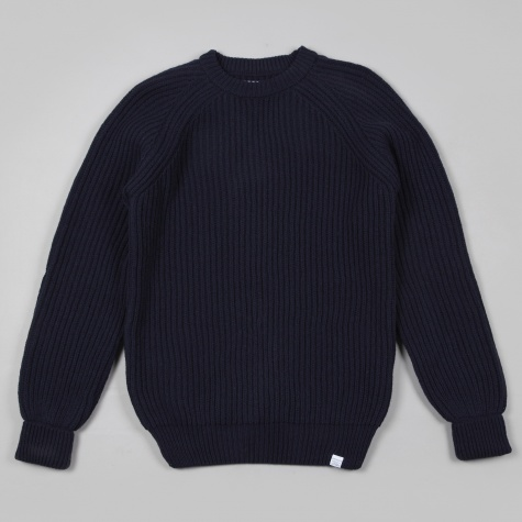 Norse Projects Ralf Structure Knit Dark Navy
