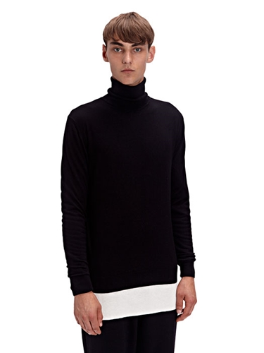 Aiezen Mens Cashmere And Silk Roll Neck Sweater