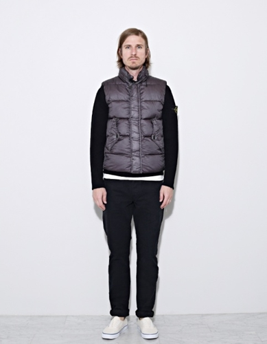 Stone Island Gd Down Vest Grey G0224 Nitty Gritty Store
