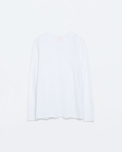Long Sleeved T Shirt T Shirts Man Zara Netherlands