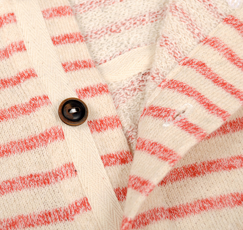  ROBBINS HENLEY SWEATSHIRT RED CREAM STRIPE HICKOREE S HARD GOODS