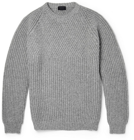 Lanvin Ribbed Wool And Cashmere Blend Sweater Mr Porter